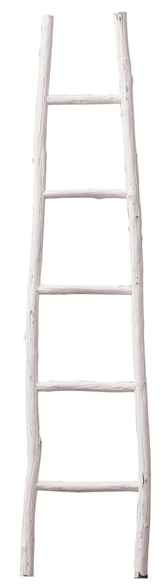 Features:  -Urban Homestead collection.  -Material: Painted wood.  -It is not recommended that the ladder is used to dry towels.  Product Type: -Decorative Ladder.  Style: -Traditional.  Finish: -Whit