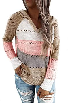 Amazon.com : singapore+women+clothes Hoodie Sweatshirts, Pullover Hoodie, Pullover Sweaters, Hooded Sweater, Long Sleeve Sweater, Long Sweaters, Sweaters For Women, Loose Knit Sweaters, Fall Sweaters