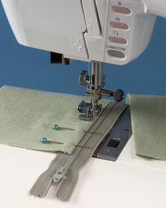 Article on sewing in different types of zippers from Threads Magazine. Nice pictures. http://www.threadsmagazine.com/item/3728/sewing-in-a-zipper/page/all