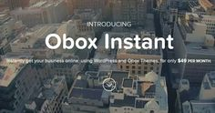 Obox Instant: Get Your Business Online With Instant Service #wordpress