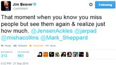 Jim Beaver's tweet about seeing Jared, Jensen, Misha, and Mark again   Supernatural