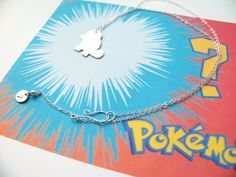 Who's That Pokemon Necklace It's Squirtle by DarthAllicus on Etsy, $35.00