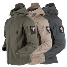 Cheap waterproof hiking jacket, Buy Quality hiking jackets directly from China jacket camping Suppliers: Shark Skin Soft Shell Military Tactical Jacket Men Waterproof Hiking Jackets Camping Camouflage Hooded Camo Army Clothing Tactical Wear, Tactical Jacket, Tactical Clothing, Army Clothes, Hunting Clothes, Work Clothes, Polo Jackets, Men's Coats And Jackets, Soft Shell