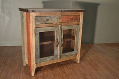 Rustic Solid Reclaimed wood Console / Entry Way Cabinet / China Cabinet / Bookcase / Sideboard