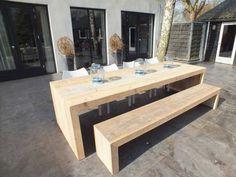 Steigerhout Furniture - Steigerhout tafel Olavi. Exclusieve steigerhout tafels op maat gemaakt. - Steigerhout Furniture | Unieke steigerhouten meubelen & tuinmeubelen op maat gemaakt!