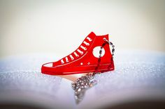 Necklace - CONVERSE -Pendant- Plexiglass Red Trasparent on Etsy, $7.03