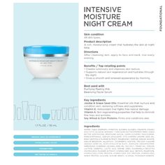 Intensive moisture night cream. #seacret