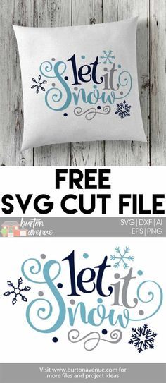 Create fun winter projects with this free Winter SVG Files for Silhouette and Cr. - Create fun winter projects with this free Winter SVG Files for Silhouette and Cricut - Cricut Air, Cricut Vinyl, Cricut Fonts, Svg Files For Cricut, Free Svg Fonts, Shilouette Cameo, How To Make Snow, Free Svg Cut Files, Free Cut Files For Silhouette