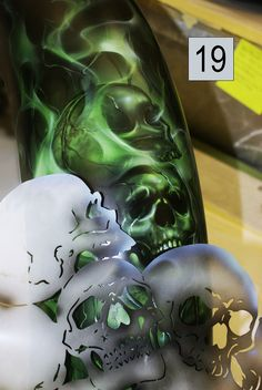 easy airbrush   Airbrush Skulls Super Easy Using Templates Video Pictures