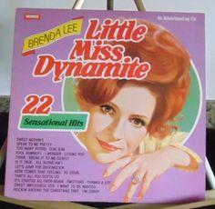 Brenda Lee Lp Little Miss Dynamite Very Good #AlternativeCountryAmericanaContemporaryCountryCountryPopEarlyCountryNashvilleSoundTraditionalCountry