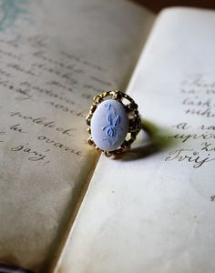 Such a cool ring!  Via LadybirdDee on Etsy.