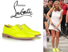 Who: Brooklyn Decker wearing Christian Louboutin Havana patent leather brogues