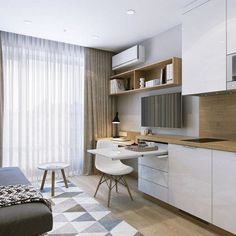 33 The Honest to Goodness Truth on House Styles Architecture Small Spaces - onlyhomely Condo Interior Design, Studio Apartment Design, Small Apartment Interior, Small Apartment Design, Condo Design, Apartment Layout, Home Design Decor, Small Apartments, Ux Design