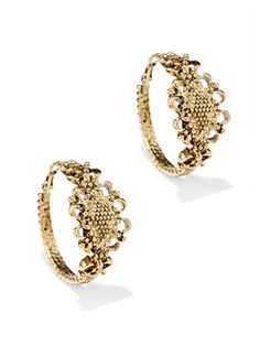 Shop Eva Mendes Collection - Textured Hoop Earring . Find your perfect size online at the best price at New York & Company.