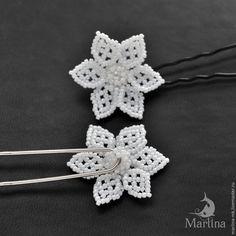 Мастер-класс: цветы из бисера в прическу невесте - Ярмарка Мастеров - ручная работа, handmade