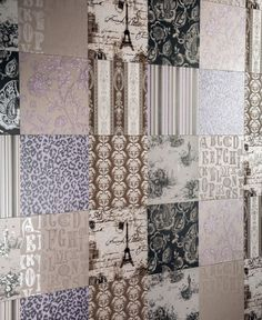 Great Colour Trend in Bathroom Wallcovering patchwork wall tiles