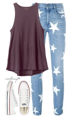 """""""Look At The Stars, Look How They Shine For You ❤"""" by avonsblessing94 ❤ liked on Polyvore featuring STELLA McCARTNEY, RVCA, Converse, women's clothing, women, female, woman, misses and juniors"""