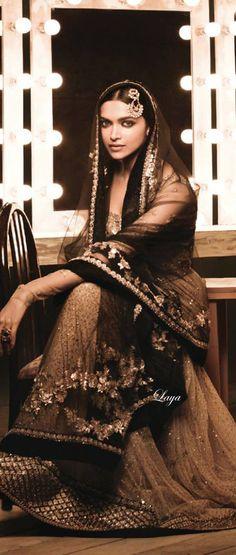 Deepika Padukone in Sabyasachi Anarkali on Femina❋Laya