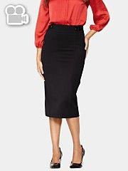 ЮБКИ: Рекомендуются прямые узкие юбки. Очень важно, чтобы ваши юбки всегда были плоскими, без объемных элементов в промежутке от верхней части таза до верхней части бедра! Несколько четких вытачек на талии, как правило, необходимы для того, чтобы юбка хорошо легла на бёдрах. Складки и плиссировка таким образом, должна быть зашиты в верхней части юбки, чтобы не нарушать ваши гладкие вертикальные линии силуэта. Короткие юбки отлично смотрятся. Подходят любые строгие детали, такие как клапаны…