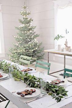 Fêtes | Tables en Fêtes | Une décoration de table minimaliste un brin nostalgique
