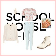 """School outfit"" by sofstar on Polyvore"