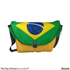 The Flag of Brazil Courier Bag