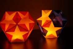 Dodecahedron Star Lantern {Tutorial} - perfect for Christmas and Winter Solstice celebrations! via Happiness is Homemade