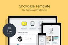 This is a flat version of our psd responsive showcase series with three flat designed devices to help you showcase your...