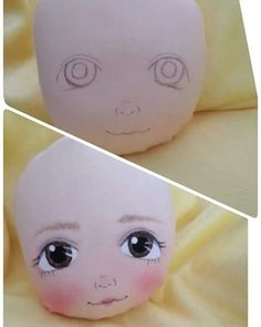 Strategies For fabric dolls Doll Face Paint, Doll Painting, Eye Painting, Doll Crafts, Diy Doll, Fabric Toys, Doll Eyes, Sewing Dolls, Waldorf Dolls