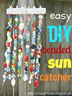 A Heart For Home: DIY Beaded Sun Catcher {Finished Friday} Link up your finished projects, too!