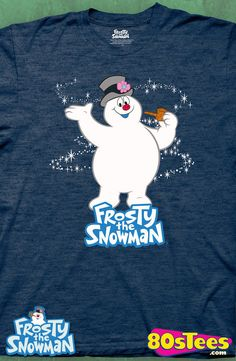 Frosty The Snowman Jolly Happy Shirt: Frosty Mens T-Shirt  Add some humor to your wardrobe with this famously popular celebrity snowman, Frosty.  The great art, design and illustration makes this a perfect winter holiday fashion.