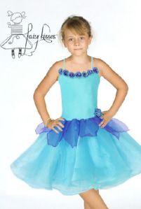 Fairy Kisses - Pansy Fairy (Aqua): Sizes M (6-7), L (8-9). $65.60
