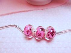 European Beads-Pink Butterfly European by CharmedHeartz on Etsy