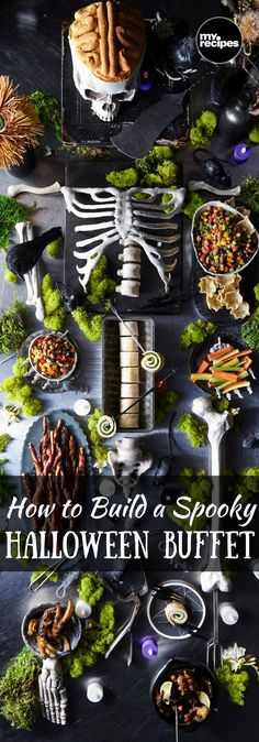 How to Build a Spooky Halloween Buffet | MyRecipes  Dig in, if you dare!