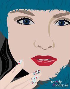 Graphic, Vector, Figure, Glitter nail, Polish, Nail art,Nail design