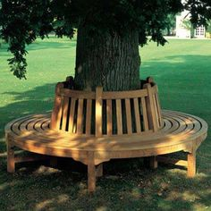 The Barlow Tyrie Glenham Circular Tree Seat is a custom seating solution in a garden or yard that has a special tree as a focal point. Tree Seat, Tree Bench, Diy Garden Furniture, Furniture Ideas, Furniture Buyers, Diy Garden Decor, Backyard Seating, Outdoor Seating, Patio Bench