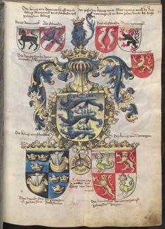 Grünenberg, Konrad: Das Wappenbuch Conrads von Grünenberg, Ritters und Bürgers zu Constanz um 1480 Cgm 145 Folio 42