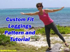 Tutorial for how to draft a custom fit leggings pattern using a unique spreadsheet provided and how to sew your leggings to fit you perfectly. Free leggings pattern.