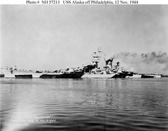 CB-1 USS Alaska at Philadelphia Navy Yard on November 12, 1944