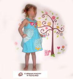 OWL Summer Girls Dress by FEENLAND; ~ krabbelkee collection ~