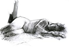 Jade Asleep. Willow Charcoal Female Life by DavidHewittArtist #art #artist #drawing #charcoal #print #blackandwhite #lifedrawing #life #figure #female #nude
