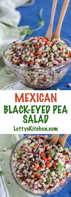 Mexican black-eyed pea salad with red pepper, cucumber, jalapeño chile, and cilantro. This vegan protein dish also makes a delicious dip with tortilla chips.