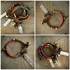 NOMAD TRIBE Hipppie Boho Gypsy bracelet.Nomad by BeadStonenSkin