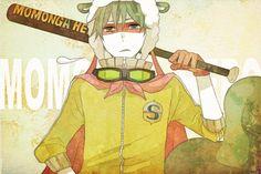 """""""やさぐれモモンガヒーロー"""" (English: Yasagure flying squirrel Hero); The baseball bat wielding Splendid; Created by 桐 (English: Kiri)"""