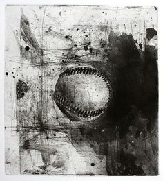 Jake Muirhead, 'Baseball', etching and aquatint