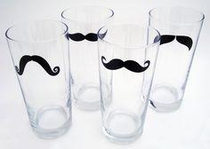moustache glass