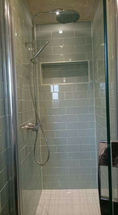 Ensuite. Mira Flight 1200cm Shower Tray. Bu0026Q Wellington Tiles Duck Egg Blue,  Crosswater Part 82