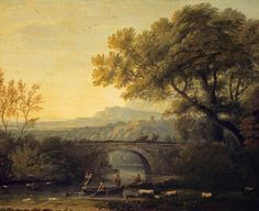 Landscape with a Bridge by Claude Lorrain National Galleries of Scotland Date painted: c.1640–1682