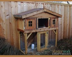 DIY Rabbit Hutch from recycled / reused materials left over from the DIY fence.