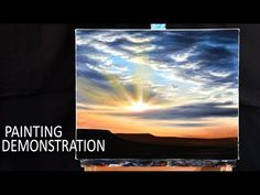 HOW TO PAINT A SKY & CLOUDS | Painting demo - YouTube